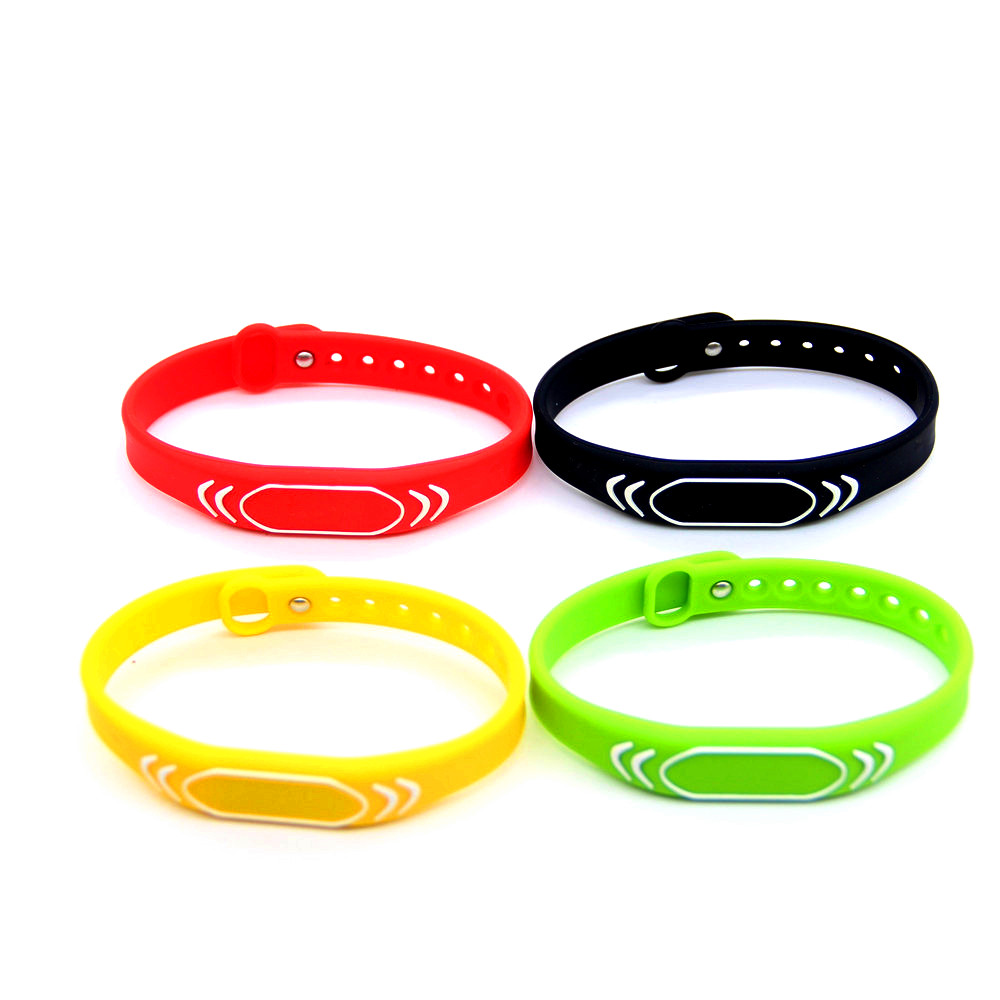 1pcs 13.56MHZ 1K S50 Adjustable Silica Gel Waterproof Wristband RFID IC Read Only Bracelet Keyfob For Access Control