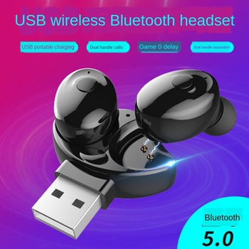 Mini Bluetooth 5.0 Earphone Single Sport Wireless Stereo Headset Portable Invisible In-Ear Business Earbud USB Magnetic Charger