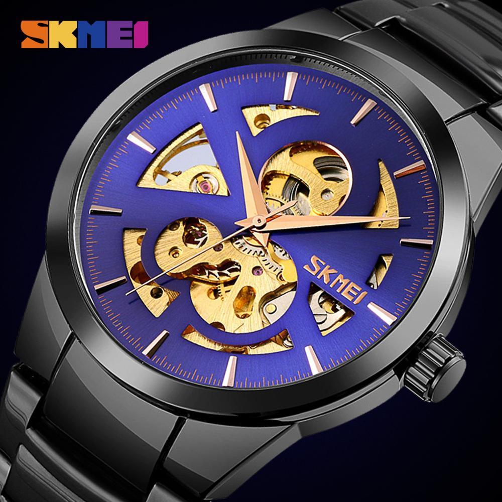 SKMEI Creative Automatic Mechanical Watches For Mens Fashion Business Men Mechanical Wrist Watch Male Clock reloj hombre 9243