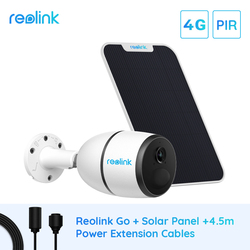 Reolink GO 1080p 3G 4G IP Camera with Solar Panel & Power extension cable Starlight Vision Rechargeable Battery Powered Outdoor