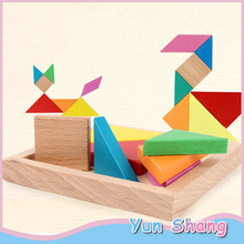 KIds Children Education Toys Wooden Tangram Colorful Puzzle Game Alphabet Numbers Early Learning Educational Toys for Children цена 2017