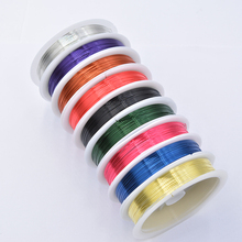 Colorful 0 4mm Black Purple Blue Red Alloy Copper Wire for Jewelry Making Bracelet Necklace Beading Cord Findings DIY cheap 15gg Cords 1 5cminchinchinchinch 8cminchinchinchinch Metal Stainless Steel 0 3 0 38 0 45 0 5 0 6 0 7 0 8mm 50 45 30 25 20m