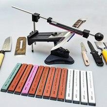 Ruixin profissional faca de cozinha apontador ângulo fixo com multi alta qualidade pedras afiar pedra amolar moagem