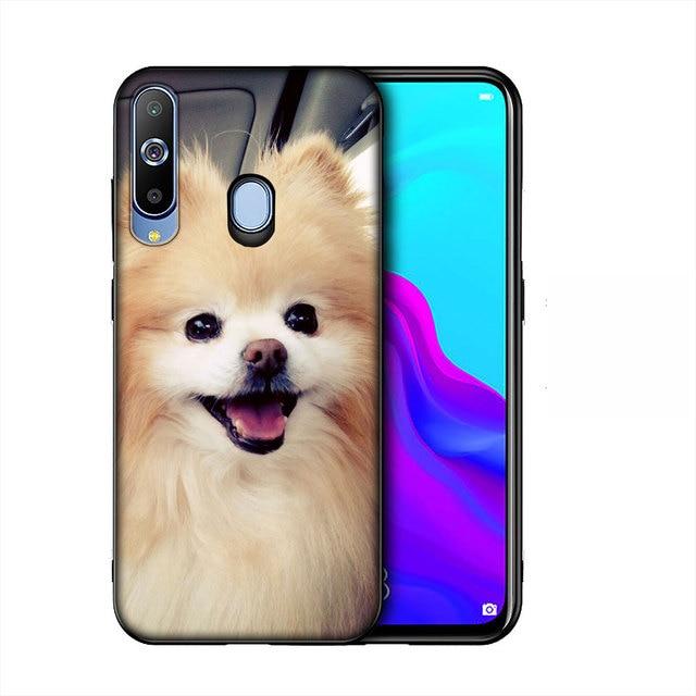 YIMAOC buldog mops szczenięta pies miękka TPU krzemu skrzynka dla Samsung Galaxy Note 8 9 10 Plus 10 + M40 m30 M20 M10 czarna okładka