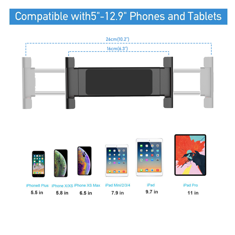 XMXCZKJ New Tablet Holder For Ipad,Tablet Stand Adjustable ,Desktop Tablet Stand For iPad Pro 11 2020 and 5.3-10.2 inch iPad