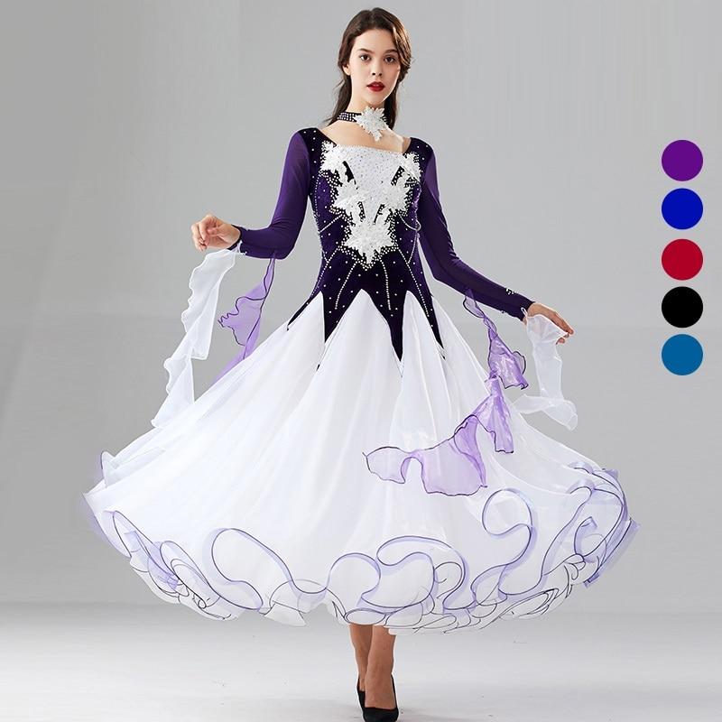 Ballroom Dance Competition Dress For Ballroom Dancing Clothes Standard Dance Dress Waltz Dress Long Ball Dress Dance Costume