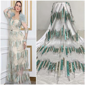 Latest Nigerian lace fabric 2020 high quality lace tulle African lace fabric wedding French tulle lace material dress J66-890