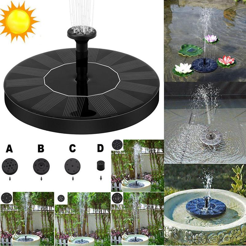 Mini Solar Powered Fountain Pump Watering Submersible Pump Free Standing Water Bird Bath Pumps With 1.4W Solar Panel For Garden