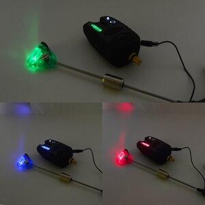 Image 3 - Hirisi Carp fishing bite alarm 8 LED with fishing swingers indicator for carp fishing