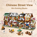 LOZ City Mini Building Blocks Chinese Street Store Architecture Juguetes Bloques DIY Shop Bricks Educational Toys Gifts for Kids