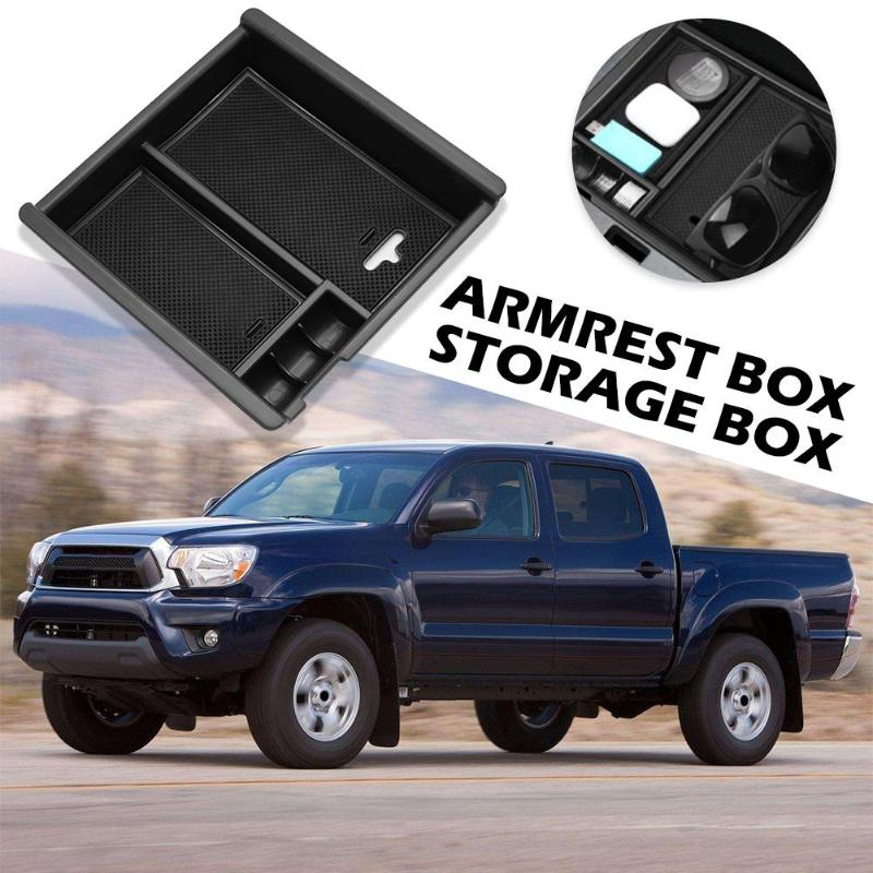 Silicone Insert Storage Box For Toyota Tacoma 2016-2019 Center Console Armrest ABS Tray Organizer Auto Interior Accessories