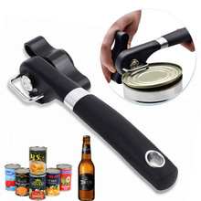 Can Opener Manual Can Tin Opener Built in Bottle Opener Stainless Steel Safe Can Openers Kitchen Handheld Bottle Tin Opener single handle can safe can opener kitchen can plastic can opener manual bottle opener