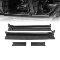 Front Entry Guards Door Sill Plate Protectors for Jeep Wrangler JL 2018+ for Jeep Gladiator JT 2018+ ABS Door Threshold Bar Stri|Styling Mouldings|   -