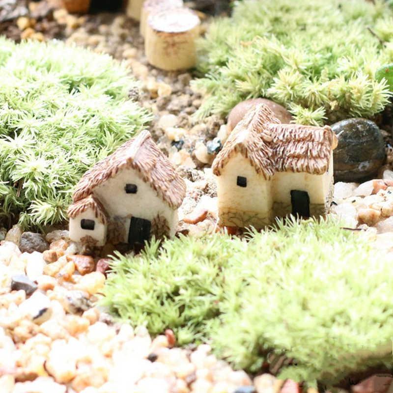 1PC couleur aléatoire Mini petite maison chalets bricolage jouets artisanat Figure mousse Terrarium fée jardin ornement paysage décor maison de poupée