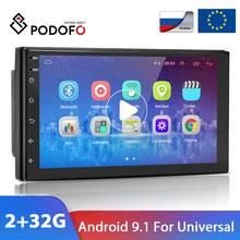 Podofo 2 Din Android 9.1 Auto Radio 7 ''Autoradio Gps Fm Auto Multimedia Speler Audio Stereo Voor Vw Ford nissan Hyundai Kia Toyota