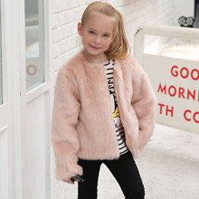 Baby Girl Winter Jacket 2019 Winter Faux Rabbit Fur Jackets for Girls Coats and Jackets Kids Girls Fur Coats Solid Fur Outerwear new winter girls fur coat elegant baby girl faux fur jackets and coats thick warm parka kids outerwear clothes girls coat