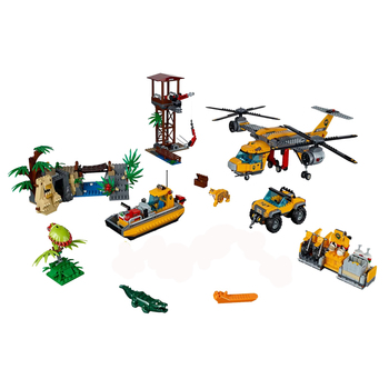 2020 New City Series Toys Jungle Air Drop Helicopter Compatible Lepining City 60162 Building Blocks for Children Christmas Gift