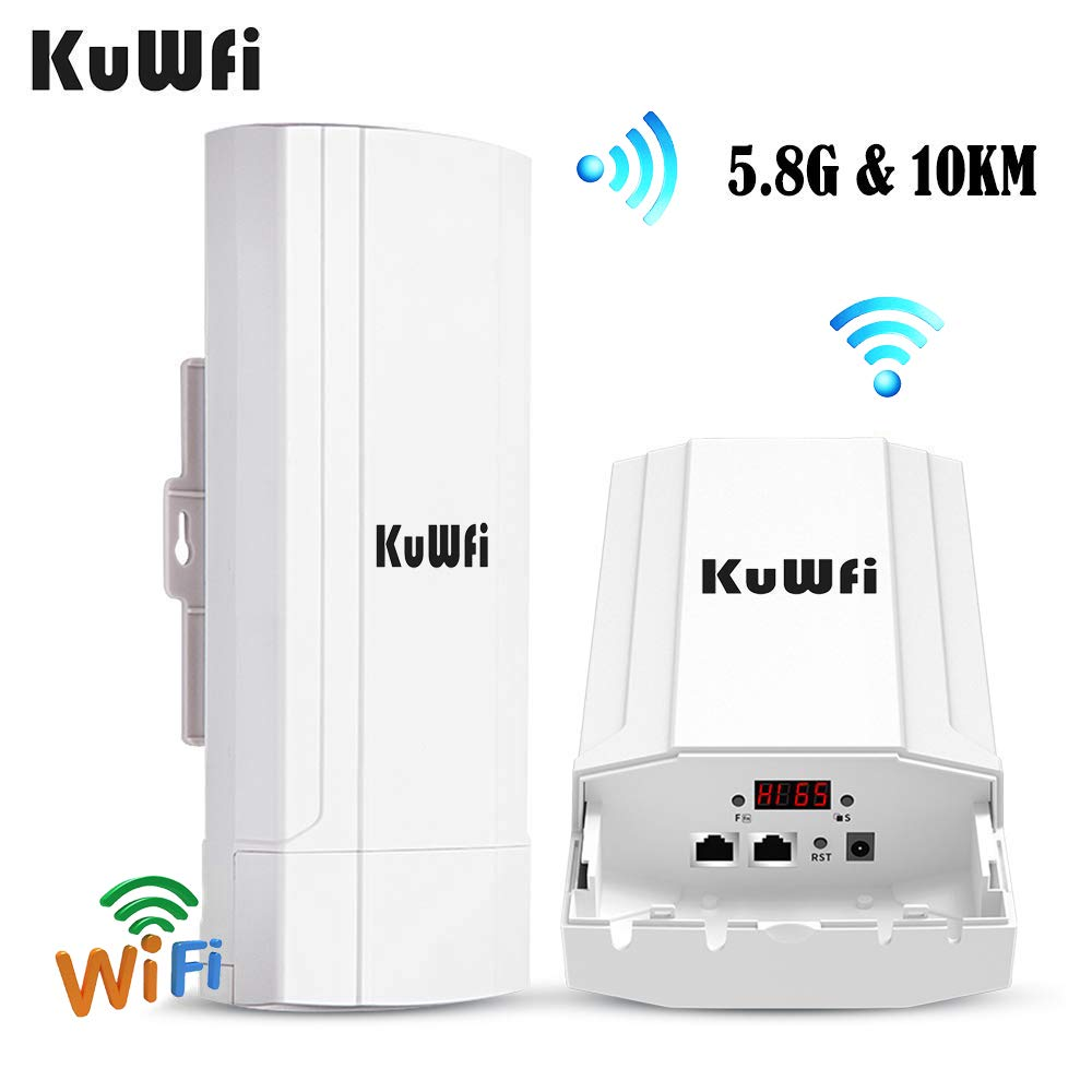 KuWFi 900Mbps Outdoor Router High Power 5.8G Wireless CPE/Repeater/WDS/Bridge Extend Wifi Signal 3-10KM For IP Camera PoE