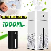 1L Cool Mist Humidifier Large Capacity USB Air Humidifier Purifier Auto Shut Off Steam Atomization With 7 Color LED Night Light|Humidifiers| |  -