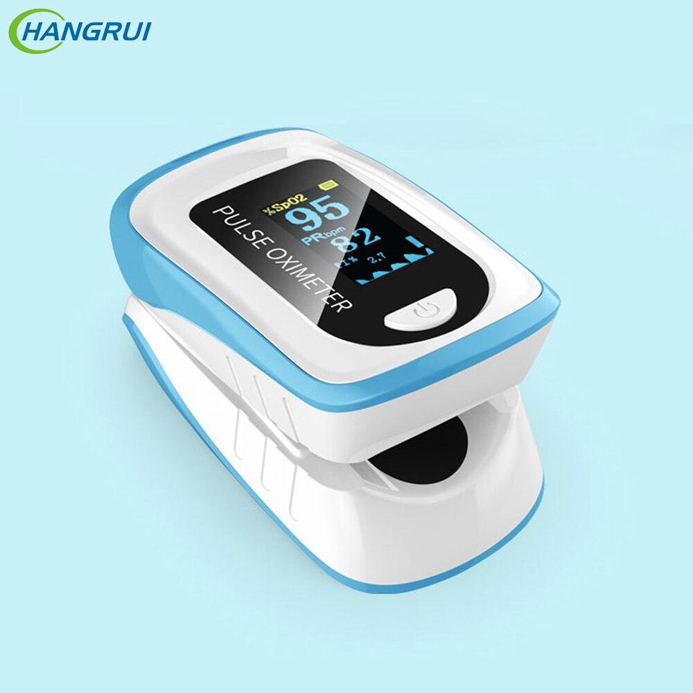 Hangrui Oximeter OLED Digital Fingertip Pulse Monitor Blood Oxygen Finger Measurement Portable Health Care Home Family Equipment