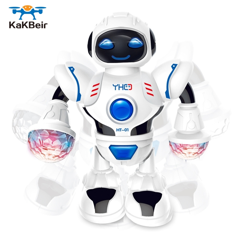 KaKBeir Mini RC Robot with lighting Music Dancing Intelligent Model Simulated walking robots Early educational Toys for children 1