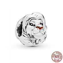 Authentic 100% 925 Sterling Silver Beads The Lion King Simba Charm fit Original Pandora Bracelets Women DIY Jewelry(China)