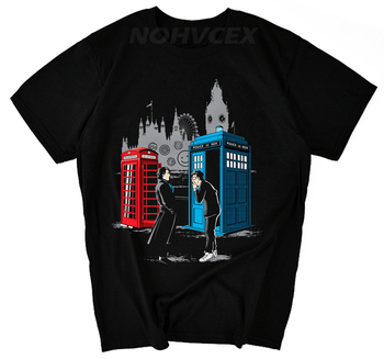 Doctor Who and Sherlock T-Shirt  1