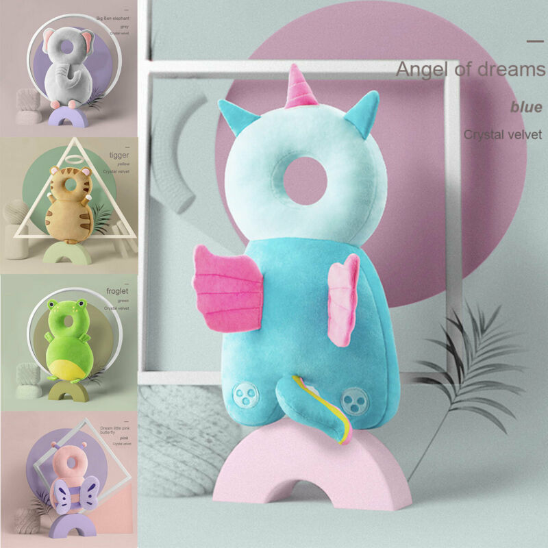 2020 Newborn Toddler Baby Head Protector Safety Pad Cushion Back Prevent Injured Unicorn Bee Cartoon Security Pillows 1-3Y