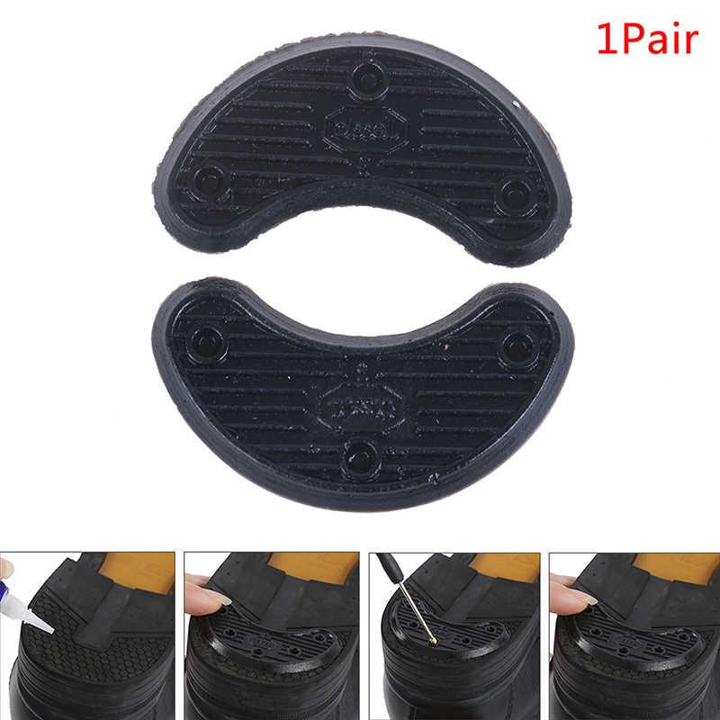 1 paar Zwarte Anti-Slijtage Schoenen Hak Zool Sticker Hak Liner Non Slip Rubber Schoenen Hakken Guard Stickers Schoen /Voetverzorging