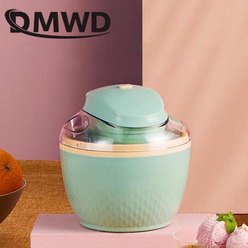 DMWD USB Household Full Automatic Soft Hard Ice Cream Maker Machine Intelligent Sorbet Fruit Yogurt Ice Maker Dessert Maker 0.5L