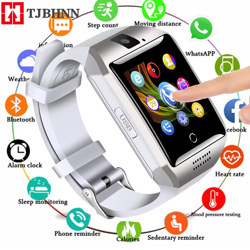 Q18 Bluetooth Smart Watch Touchscreen With Camera Watch Cell Phone With Sim Card Slot Smart Wrist For Android IOS Phone PK DZ09