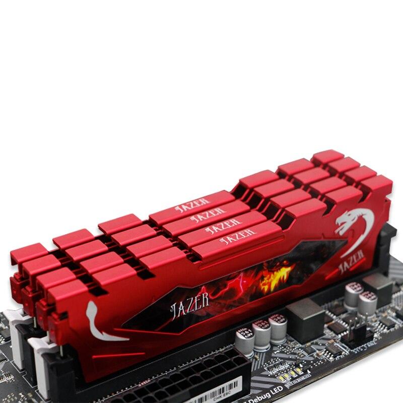Memória do computador do desktop da ram de jazer memória ram 4gb 8gb ddr4 16gb pc4 2400mhz 2666mhz com dissipador de calor