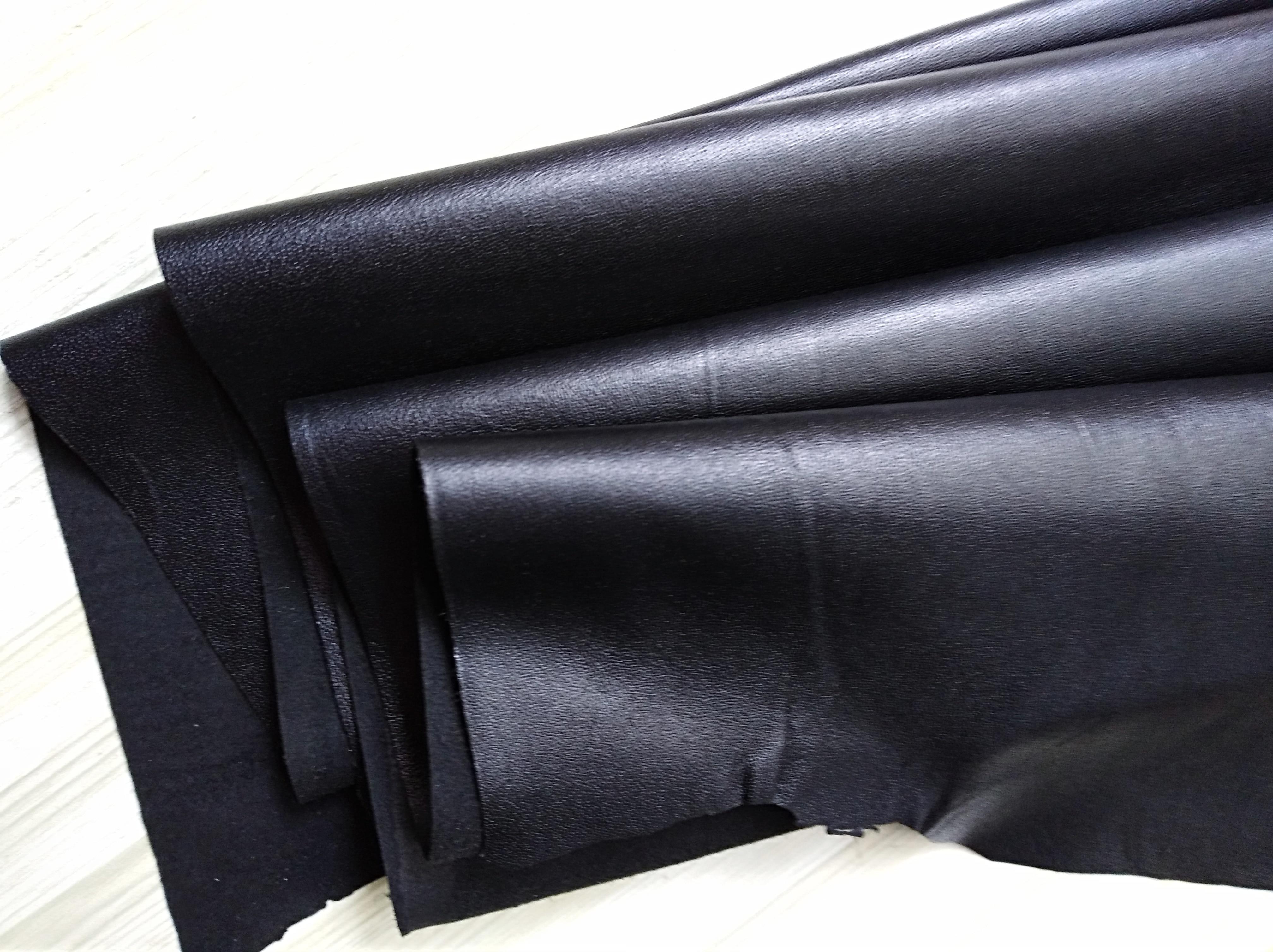Простой черный узор ручной работы из овечьей кожи ткань 1,1-1,5 мм мягкая одежда швейная домашняя повседневная одежда материал сумки