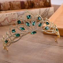 Baroque Wedding Tiara Decoration for Hair Diadem Girls Bridal Princess Crown Crystal Headband Accessories Jewelry
