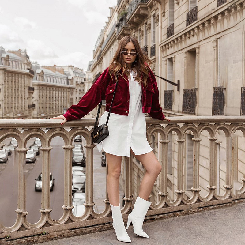 Hot 2019 autumn and winter new street fashion casual women's long-sleeved lapel classic single-breasted cardigan loose thin red woolen coat