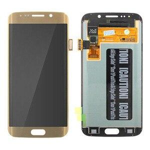 Image 2 - מקורי AMOLED LCD עבור סמסונג גלקסי s6 קצה G925U G925F מגע מסך Digitizer תצוגת אדום לשרוף