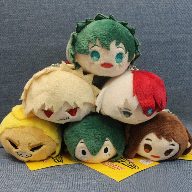 New Anime My Hero Academia Plush Doll Pendant Toy 9CM Soft Stuffed Dolls Gift