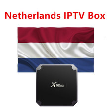 Países Bajos cobra iptv x96mini android tv box 2G 16G Europa Holanda holandesa inteligente ip decodificador sólo apoyo m3u vlc(China)