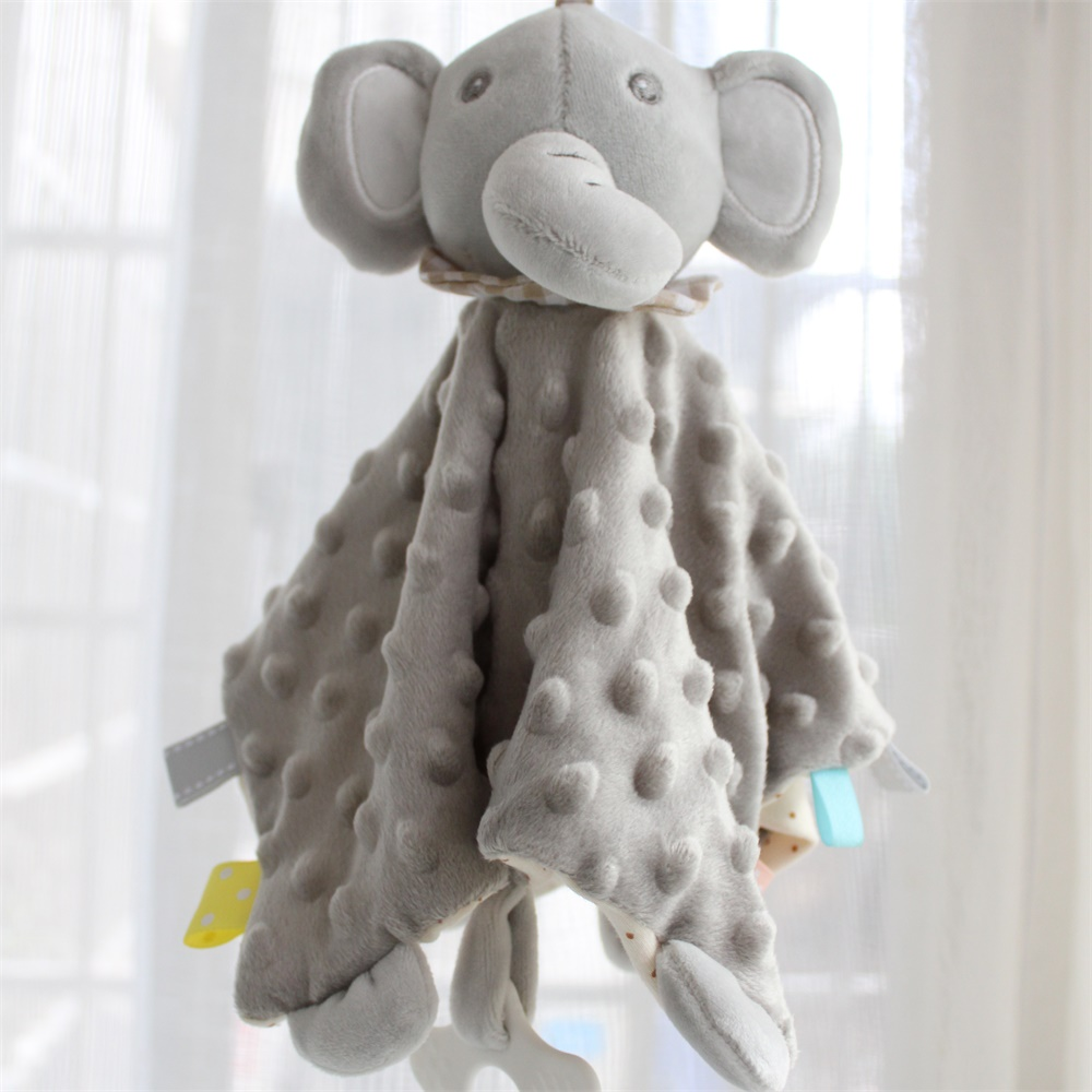 Music Baby Stuffed Animal Soothe Blanket Minky Dot Bunny Security Blanket Elephant Pacify Towel Newborn Teether Appease Blanket
