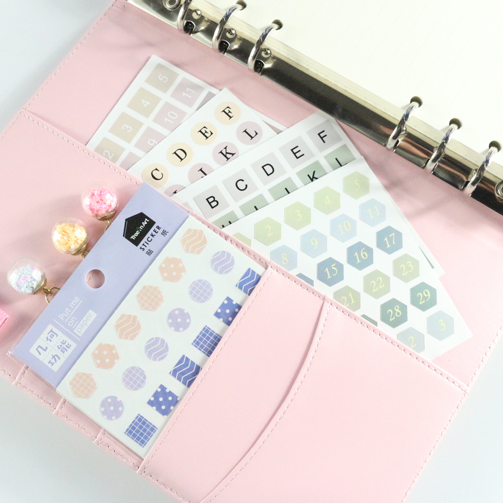 Domikee Cute Candy Office School Bullet Journal Diary Decoration DIY Stickers Set Student Clear Planner Stickers Stationery