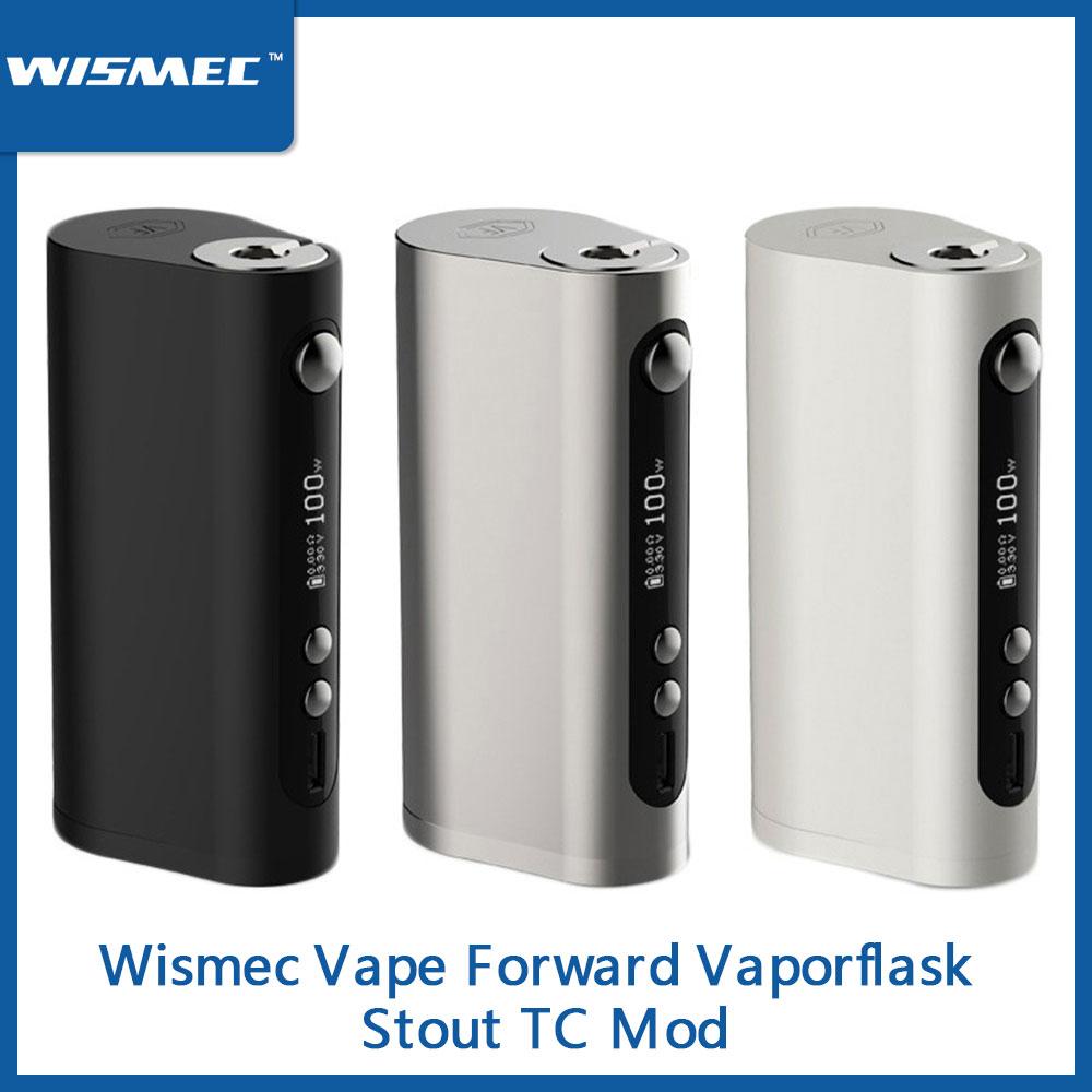 Clearance 100W Original Wismec Vape Forward Vaporflask Stout TC Box Mod TC/VW/Bypass Vs Wismec R80/Sinous P80 E-Cig