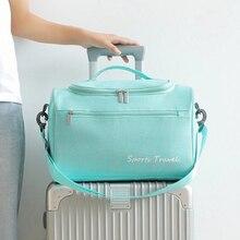 HMUNII Trockenen Und Nassen Trennung Reisetasche Wochenende Über Nacht Koffer Reise Duffle Taschen Würfel Bekleidungs Gepäck Zubehör
