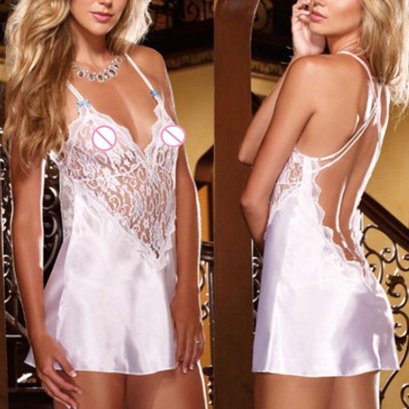 Porn Sex Babydoll Lingerie Woman Hot Erotic Costumes Sexi Lenceria Underwear Erotic White Lingerie Sexy Sleepwear Dress Chemise