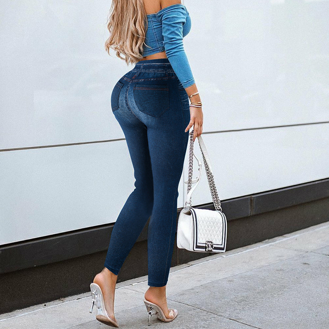 Denim Fitted Jeggings 8
