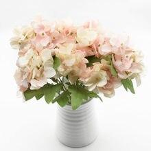 1 букет искусственных растений гортензии аксессуары для украшения