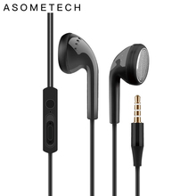 Hot 3.5mm Flat Ear Earplug Earphone Universal Bass In Ear Wired Headset Earphones For Xiaomi Huawei Samsung iPhone 6 6S 5 S Plus