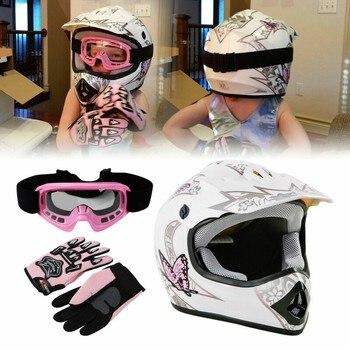 DOT Motorcycle Youth Kids Child helmet full face motocross casco moto Off-road Street Goggles Gloves Bike helmets ATV capacete 2