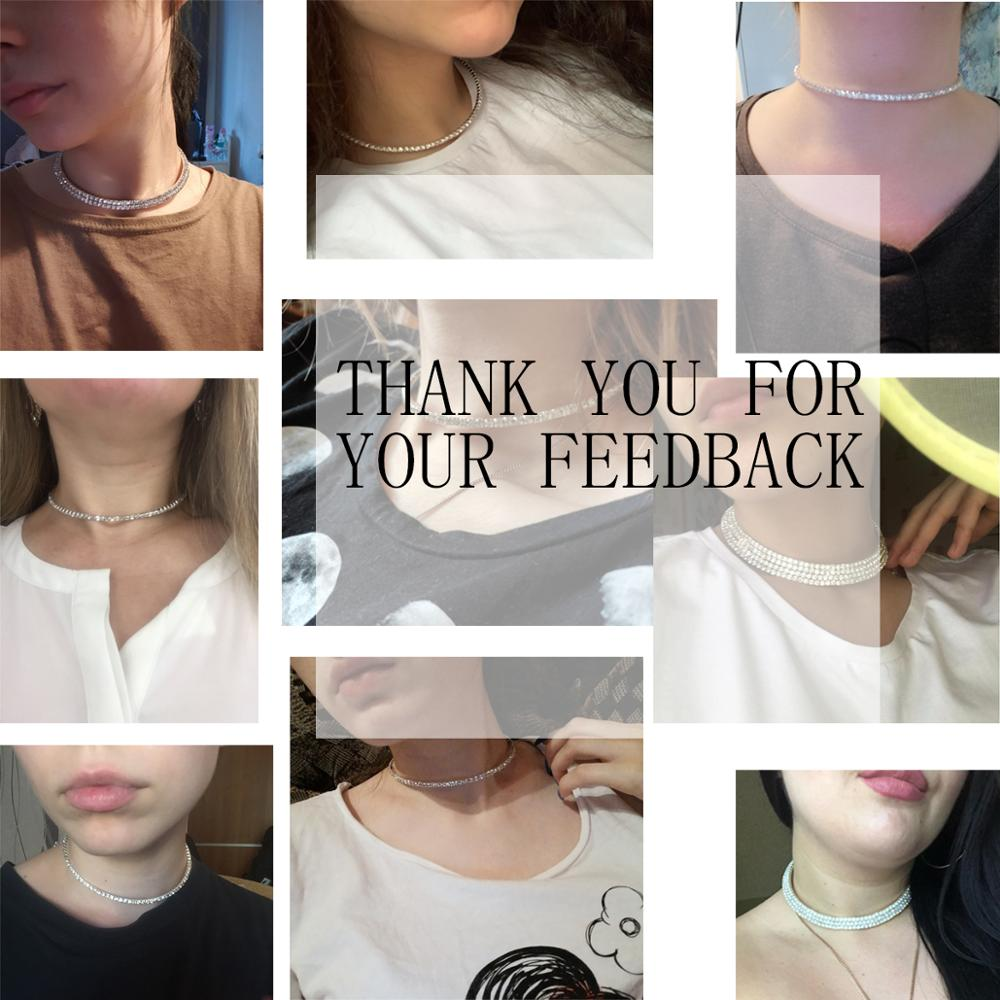 Wedding Bridal Choker Multi-lay Row Rhinestone Crystal Necklace Silver Plated Jewelry for Women Necklaces Elegant Girl Love Gift