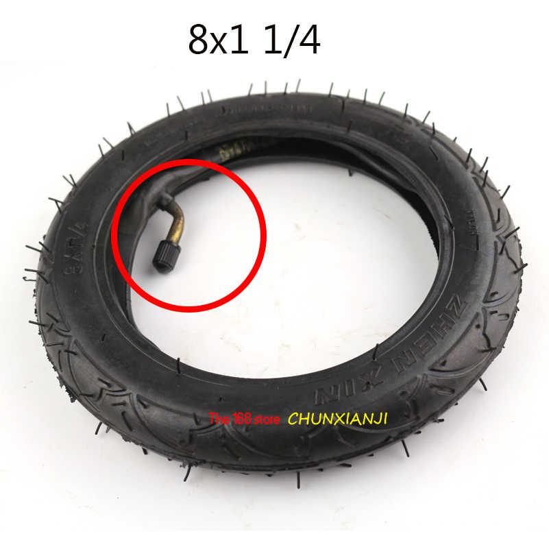 Buona qualità 8 pollici pneumatici 8X1 1/4 Motorino Pneumatico e Tubo Interno Set Valvola Piegata Vestiti Bici Elettrica /Motorino del Gas Pneumatico