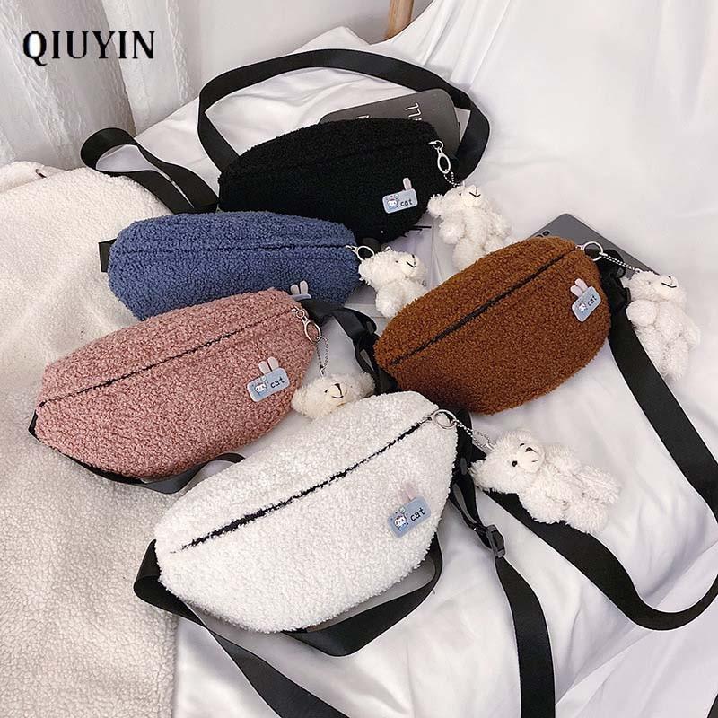 Qiuyin Bum Vintage New Chic Bag Pouch Cute Women's Waist Bag Korean Luxury  Designer Chest/belt/crossbody Purse Zip Pouch Phone